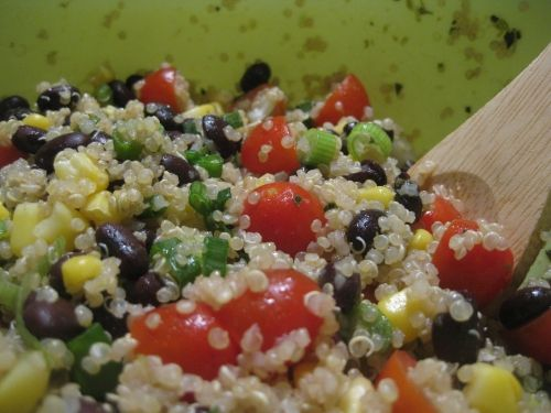 Black bean and tomato quinoa | cause I'm fat | Pinterest