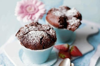 Individual chocolate soufflés #souffle #chocolate