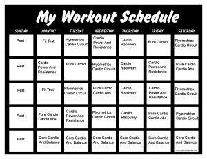 Printable Insanity Workout CalendarsInsanity Calendar Printable