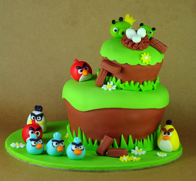 angry birds cake Kids Party Ideas Pinterest