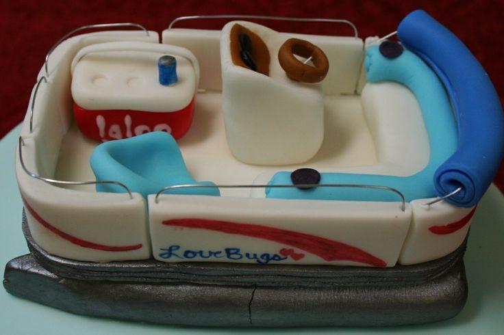 Pontoon Boat Birthday Cake