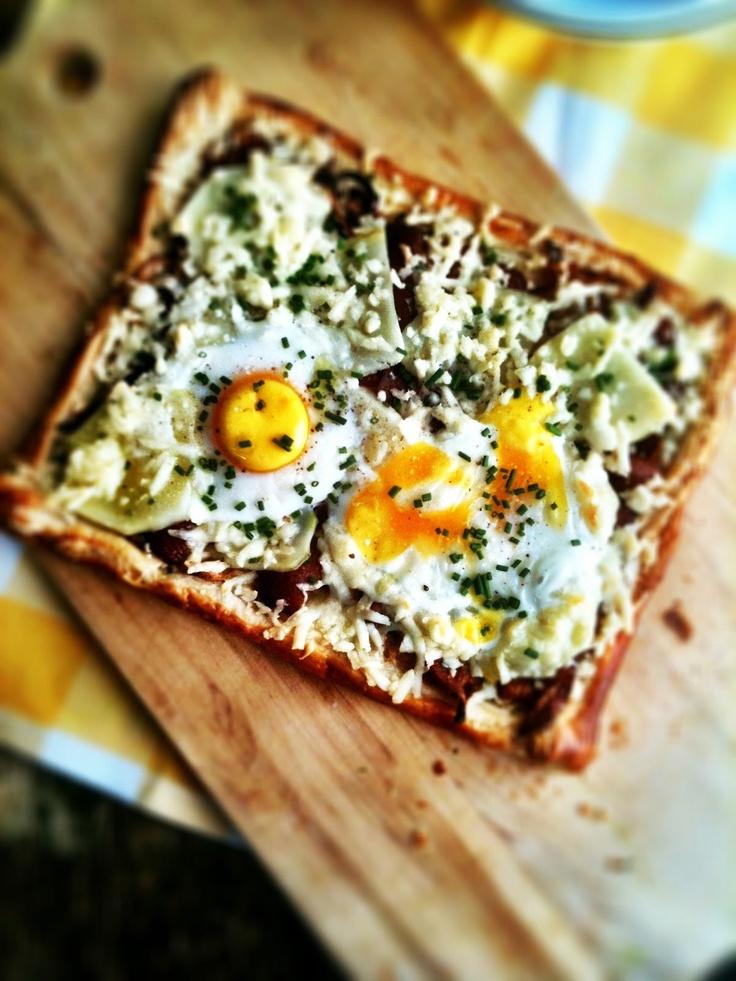 Bacon & Egg Breakfast Tart | Y is for Yummy Breakfast | Pinterest