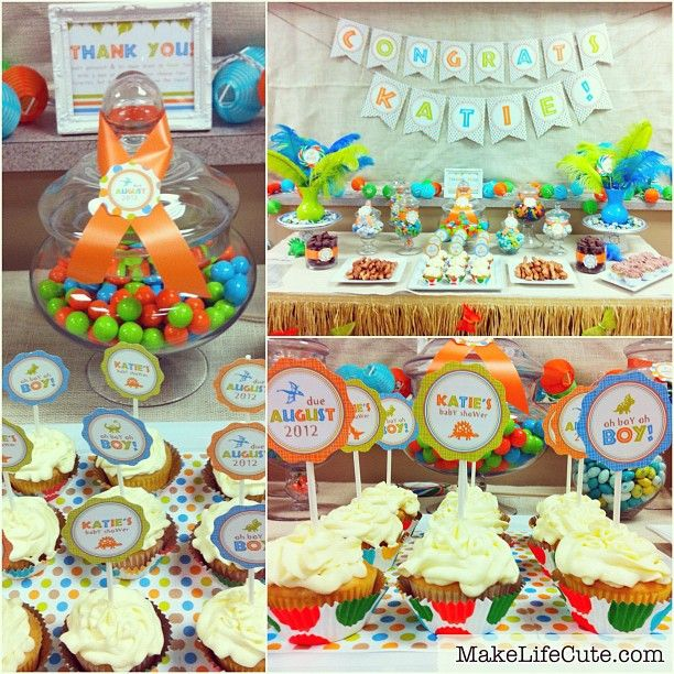 dinosaur baby shower last weekend baby shower and gifts pinterest