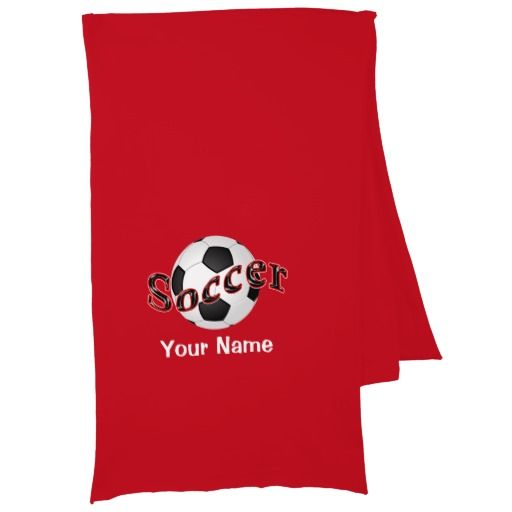 name and number custom soccer scarves no minimum
