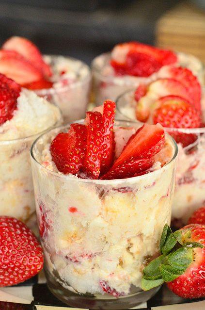 ... Brunch! Strawberry Lemon Cheesecake Parfaits reluctantentertainer.com
