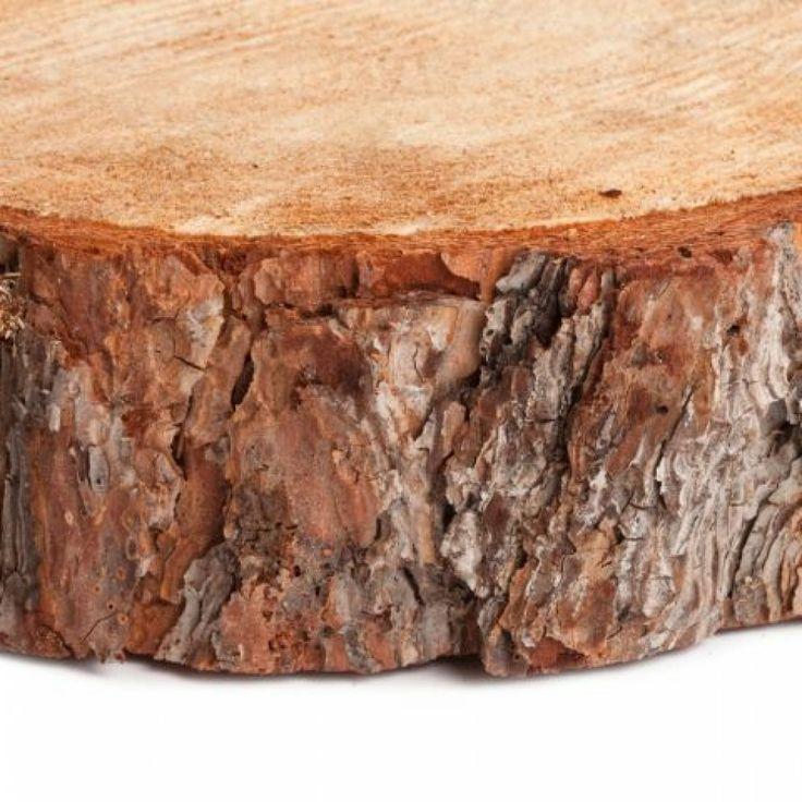 Wood slab centerpiece