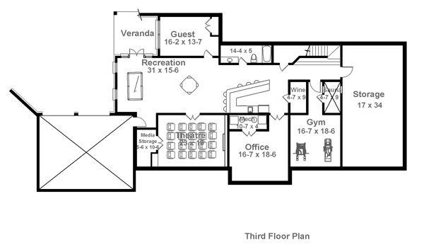Charleston house plan 1836 3rd floor design pinterest for Charleston house plans