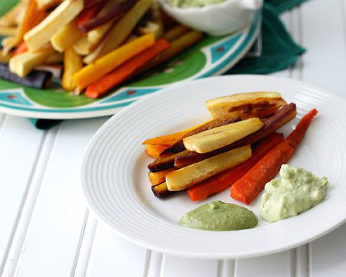 Carrot and Parsnip (roasted) Fries | Appetizers/ Snacks | Pinterest