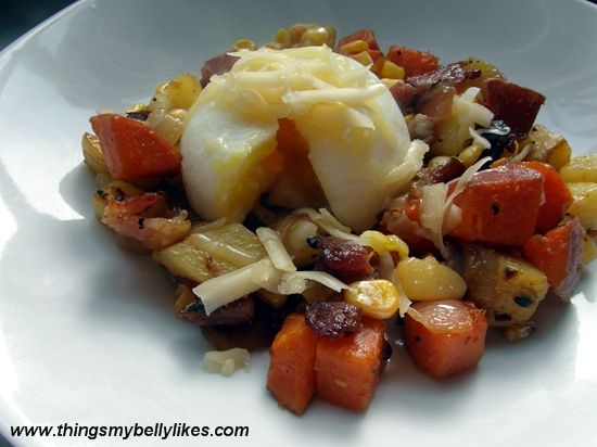 Bacon, Corn, and Sweet Potato Hash | Breakfast, Lunch, & Dinner | Pin ...