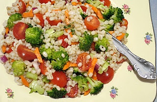 Barley Vegetable Salad with Lemon Vinaigrette