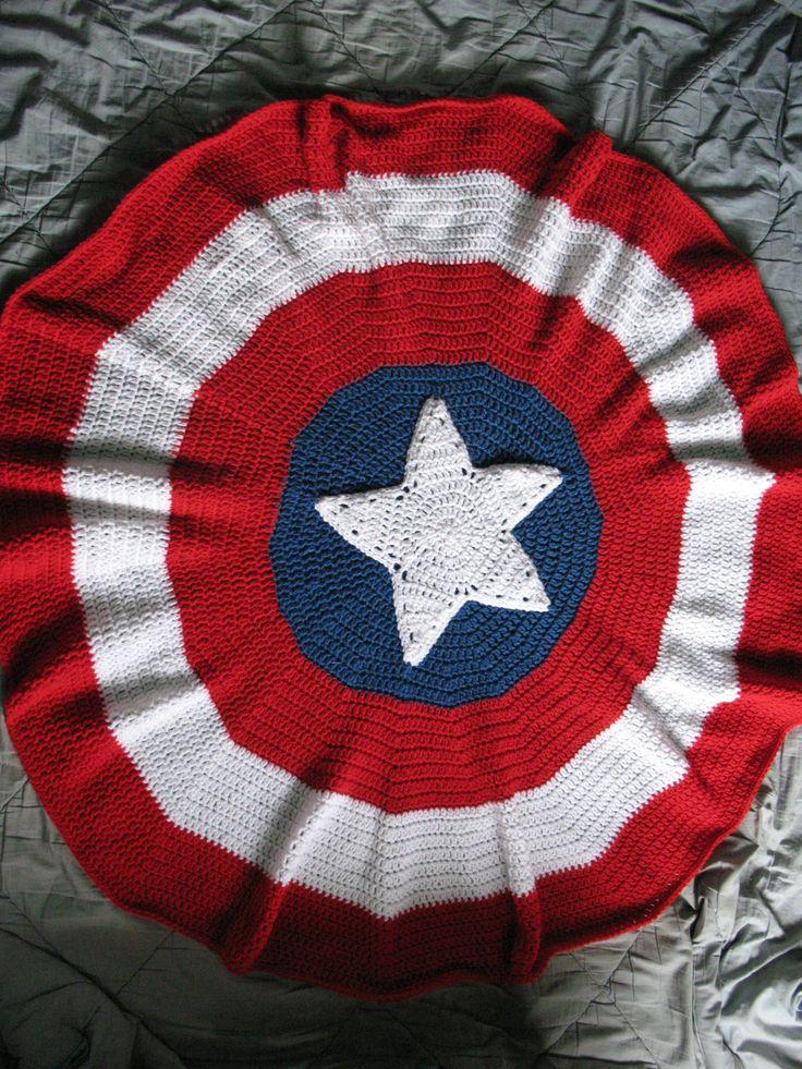 Free Crochet Pattern For Captain America Blanket : Pin by Fiber Fancies on Crochet!! Pinterest