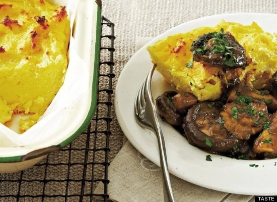 Baked Polenta With Braised Mixed Mushrooms