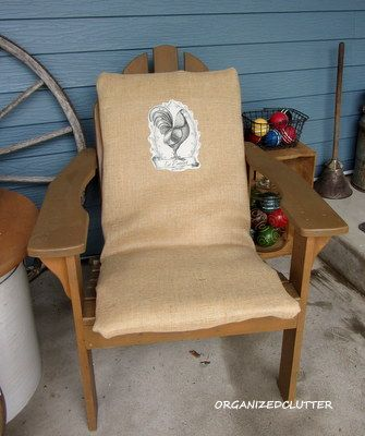 Clutter adding some interest to uninteresting chair cushions