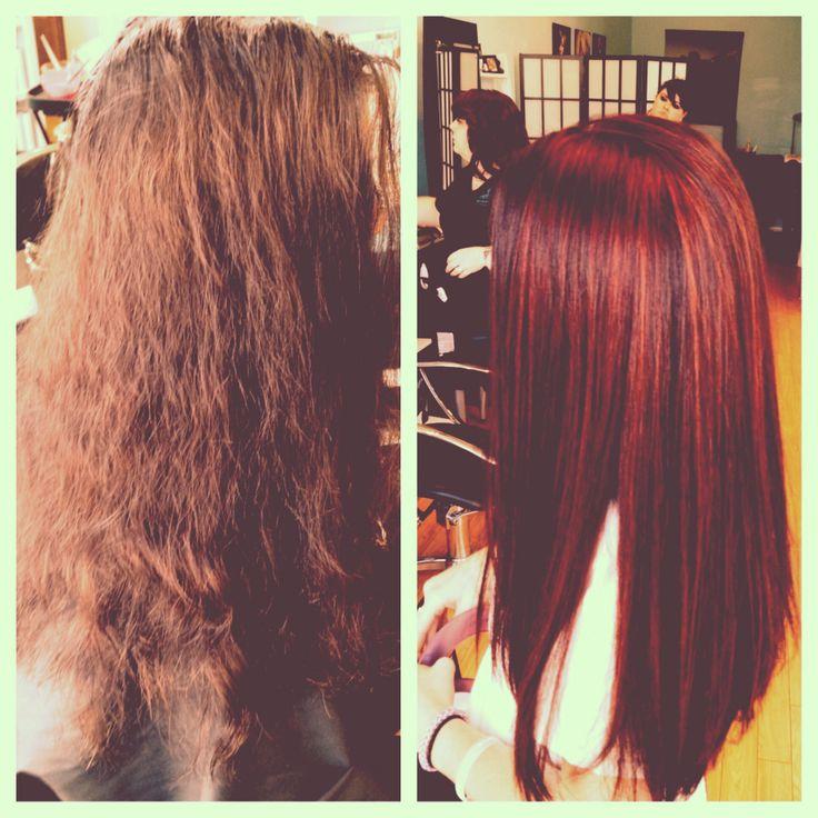 ... lowlights #balayge #paulmitchell #shinesXG #redhead #redhair #ombre #
