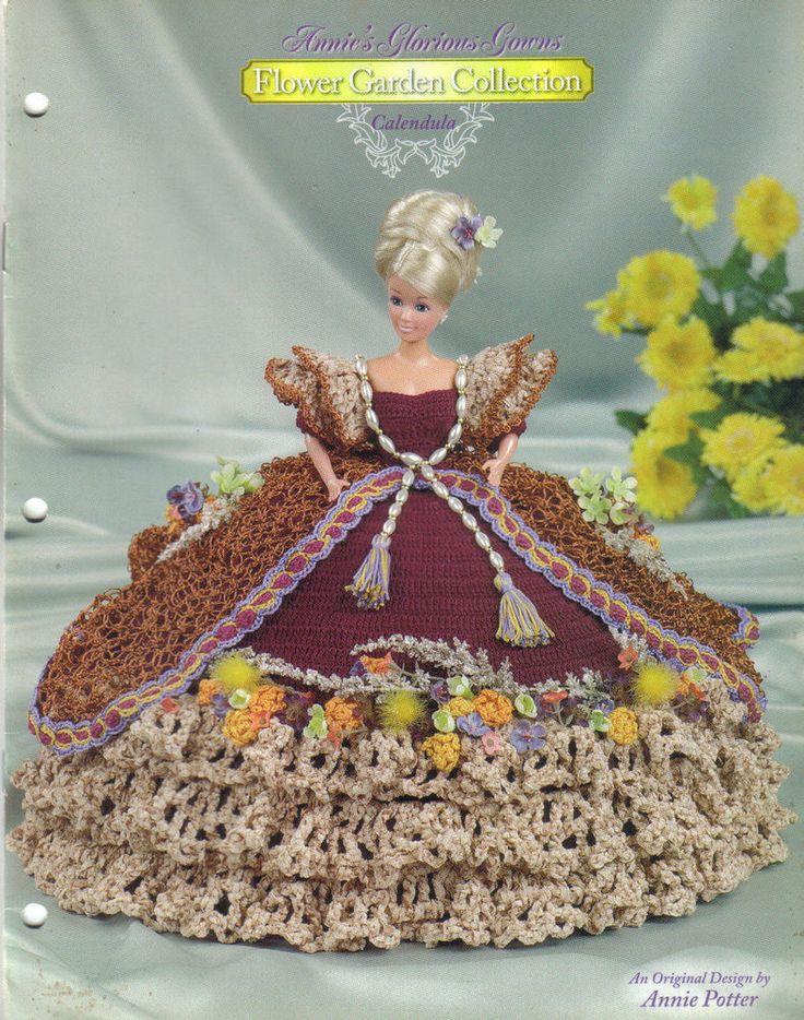 Annies Crochet Patterns : CALENDULA GOWN crochet pattern ANNIES GLORIOUS GOWNS FLOWER GARDEN C ...