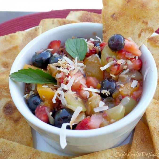 Fresh Fruit Salsa + Sweet Cinnamon Chips | Recipes - FRUIT | Pinterest