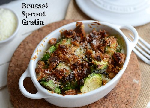 brussel sprout gratin from @Claire | The Realistic Nutritionist
