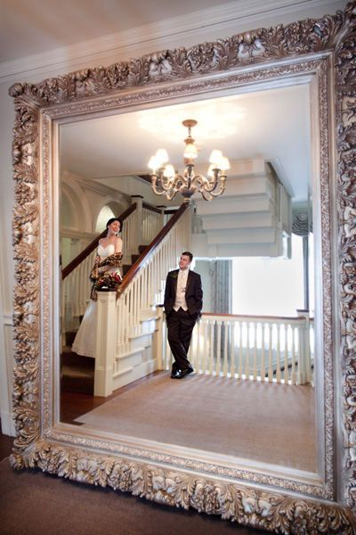 Safari inspired giant mirror home