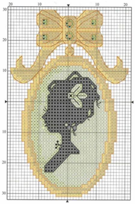 Схема для вышивки кулона 67