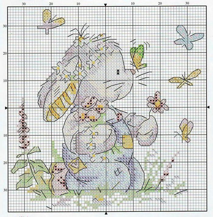 Вышивка крестом схема зайца 796
