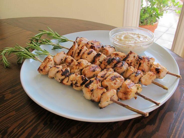 Rosemary Lemon Chicken Skewers with Dijon Mayo | Recipe