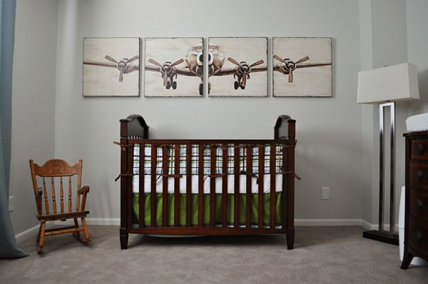 Pinterest Vintage airplane decor for nursery