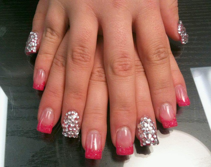 Gel Nails with Rhinestones | Products I Love | Pinterest