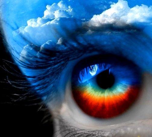 Color Splash Eyes   Rainbow  amp  clouds eye color splash Emerald Depths    Color Splash Eyes