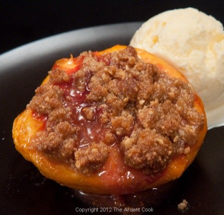 Roasted Peaches with Amaretti Crisp | Helen's Favorite Desserts | Pin ...