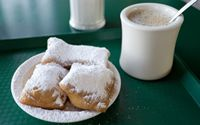 Beignets and chicory coffee--ahhh, Cafe du Monde!