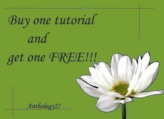 SALE  Buy one tutorial and get one free by anthology27 on Etsy, $10.00