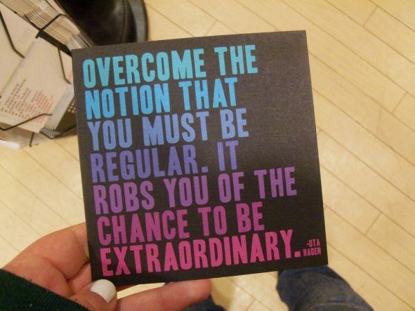 Be extraordinary! #quote #typography