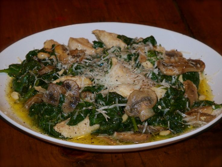Sauteed Chicken with Mushrooms & Spinach in a Butter Sage Sauce! (To ...