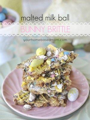 Malted Milk Ball Bunny Brittle | Seasonal Deliciousness | Pinterest
