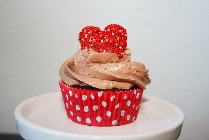 Valentine Cupcakes with Milky Way frosting