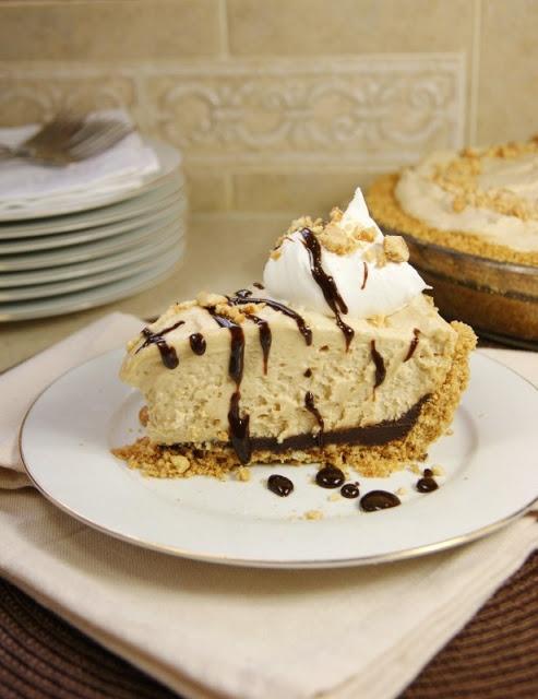 Black Bottom Peanut Butter Icebox Pie ... creamy peanut butter mousse ...