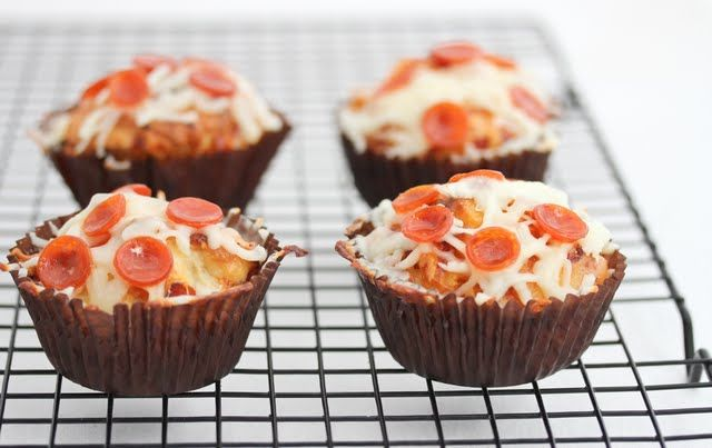 Pizza cupcakes - make minis as appetizers