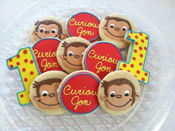 curious george sugar cookies