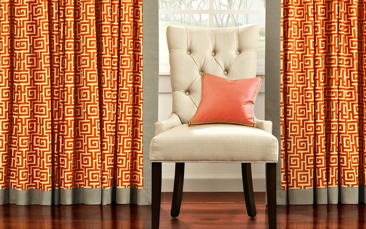 Bold curtains. | Home Decorating | Pinterest
