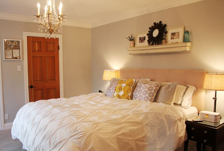 floating shelf above bed bedroom ideas pinterest. Black Bedroom Furniture Sets. Home Design Ideas