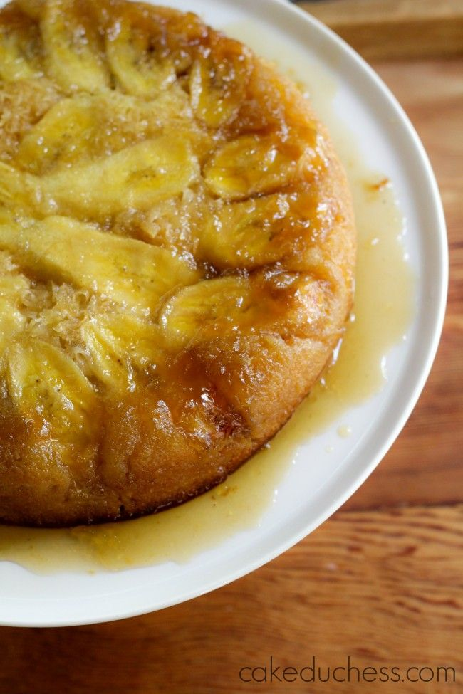 Banana Coconut Upside-Down Cake | Nosh and Nom | Pinterest