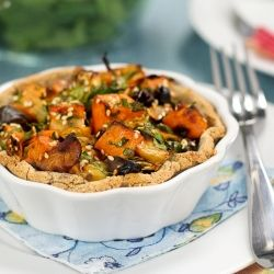 Rustic Sweet Potato, Apple and Chestnut Tartlets I would have to do a ...