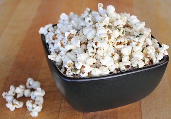 Butter-fried sage popcorn | Recipe Queue | Pinterest