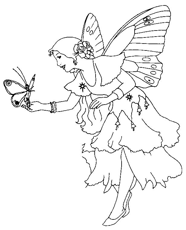 fairies coloring pages mythical creatures pinterest