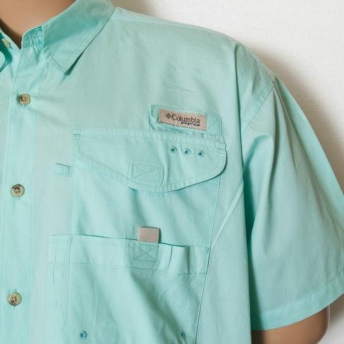 L columbia pfg performance fishing gear aqua vented shirt for Performance fishing gear shirts