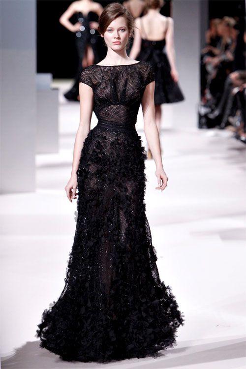 Black dress, Elie Saab.