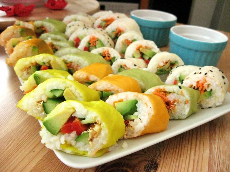 sushi cake sushi rice deconstructed sushi bowl vegetable sushi