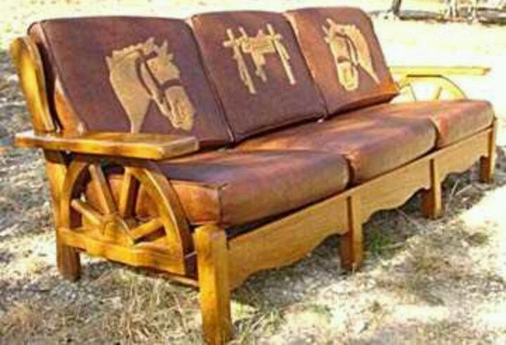 Pin by s c on rustic western pinterest for 70s wooden couch