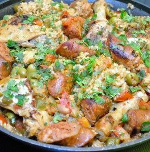 Arroz con Pollo y Chorizo – Chicken and Rice with Chorizo | Recipe
