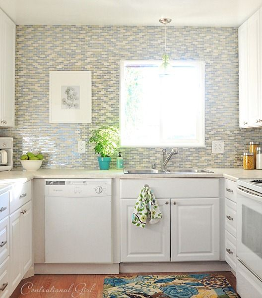 glass tile backsplash around window i was inspired by this photo on